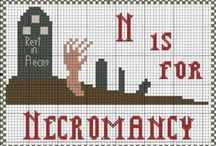 Curious Cross Stitch / A collection of weird, geeky, bookish, & bizarre cross stitch projects and patterns.