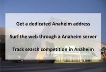 Anaheim CA Private Proxies / Anaheim is a city outside Los Angeles, in Southern California. It's home to the Disneyland Resort, a massive, colorful complex of family-friendly, Disney-themed rides, restaurants, hotels and shops.
