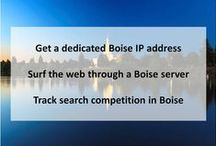 Boise ID Private Proxies / Boise is the capital and most populous city of the U.S. state of Idaho, as well as the county seat of Ada County.