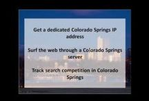 Colorado Springs CO Private Proxies / Colorado Springs, at an elevation of 6,035 ft., is a city in Colorado at the eastern foot of the Rocky Mountains.
