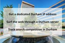 Durham NC Private Proxies / Durham is a city in the U.S. state of North Carolina. It is the county seat of Durham County, though portions also extend into Wake County in the east and Orange County in the west.