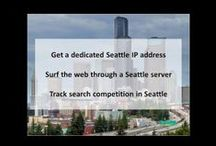 """Seattle WA Private Proxies / Seattle, on Puget Sound in the Pacific Northwest, is surrounded by water, mountains and evergreen forests, and encompasses thousands of acres of parkland (hence its nickname, """"Emerald City"""")."""