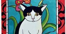 Pretty Me In Tuxedo / Pretty Me in Tuxedo - Black and White cat art by Dora Hathazi Mendes, Cats of Karavella Collection