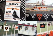 Motorcycle Birthday Party / Motocross Birthday Ideas for Boys
