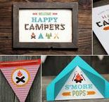 Happy Camper Baby Shower / Baby Shower Ideas by I Heart to Party