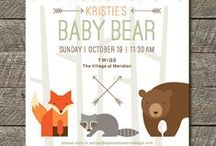 Woodlands Baby Shower / Baby Showers Printables by I Heart to Party