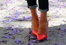 Fashion - Simply Classy / #fashion #style #shoes #red #pumps #ballet #classic #capsule #heels #street #daily #casual