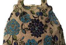 Väskor stora / väskor och stickförvaring, stickade,virkade och sydda