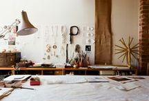 in my studio / designing a new workspace | ideas for design, storage, organisation
