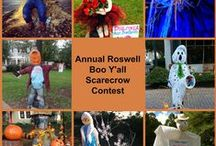 Boo Y'all / Each year businesses and community groups in Roswell decorate the city with colorful and creative scarecrows.  You never know who is going to get in on the fun.  Wonder who will win the prize, this year?