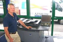 Our staff at work / Azimuth are one of the world's first Computer-to-Plate colour litho printers producing a wide variety of publications.