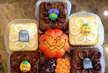 Halloween Treats / Our brownies are so good, its spooky! Give the gift of brownies to your little ghosts and goblins this year. There are no tricks, just treats!