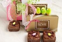 Easter Treats and Passover Sweets / Our fun and fanciful themed brownies for Springtime are sporting yummy embellishments for Easter and Passover.