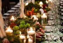 Thanksgiving Tablescapes / Beautiful Thanksgiving tablescapes to spice up your table!