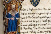 Enluminures  & oriflammes / Splendeurs du Moyen-Âge