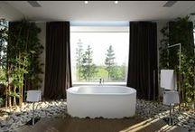 Bathrooms /  Ванные комнаты - это особый мир, где ты остаешься наедине с самим собой и где хочется укрыться от забот и насладиться приятным ощущением расслабления, свежести и отдыха.