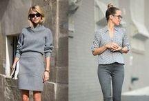 Grau in Grau - Outfits in Grautönen / Hellgrau, Dunkelgrau... Outfits in Grautönen sehen edel aus und sind momentan mega trendy.