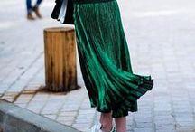 Outfits mit Midi Plissee-Rock / Midirock, midi skirt, pleated skirt, Plissee-Rock