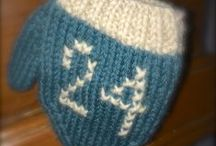 """Countdown to Christmas 2013 / Little knit mittens as gentle reminders (with a touch of sarcasm mixed in) of how many more shopping days one has until you know...the 'BIG"""" day."""