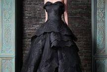 Hallowedding- The Dress / Non-traditional wedding dresses- Gothic, black, Victorian, steampunk.