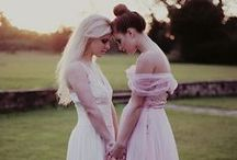 Two Girls & a Wedding / Lesbians getting hitched.  Inspiration for my future wedding :)