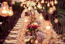 Reception / Wedding reception decor inspiration.