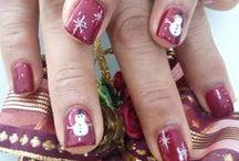 Xmas Nails Design By COCO Nails Bar / Diseños para temporada navideña, Nail art, mano alzada o estampado con sellos Moyou-London
