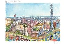 Barcelona watercolor prints / by drawing Barcelona