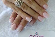 Nude & French Nails By COCO Nails Bar / Nude colors and french design for natural or acrylic Nails.