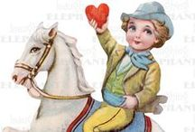 Sweet Boys and Girls for Valentine's Day / Images of children from vintage Valentine's Day cards