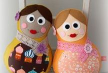 куклы-матрешки / рукоделие фетр