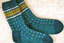 Sokker strikk / Strikka sokker