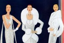 1920s Fashion / Fashion illustration and advertisement from the 1920s. Flappers, bobs and more!