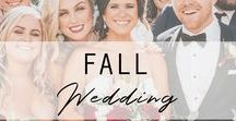 Fall Wedding / Our favorite fall color and style trends for grooms, groomsmen and bridesmen. #weddingideas #fallwedding  Visit us here for more wedding inspiration: https://www.thegroomsmansuit.com