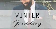 Winter Wedding / It's cold outside, but the love between a groom and his bride-to-be is sure to keep hearts warm on that special day. #weddingideas #winterwedding Check out more wedding ideas at https://www.thegroomsmansuit.com.