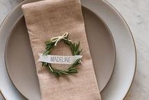 Place Cards + Seating Tags / Place card and seating tag ideas for your wedding reception