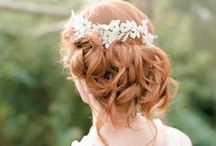 Bridal Hair / Hair inspiration for your wedding day!