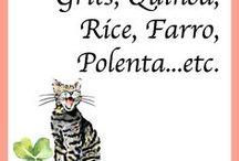Grits, Quinoa, Rice, Farro, Polenta...etc.