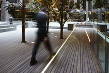 light in urban space.