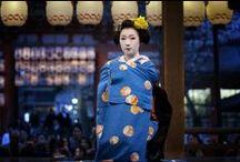~引きずり~ / Hikizuri is worn for traditional dance, often by geisha and maiko, and the padded hem allows it to lie and move nicely, since it is worn trailing and delicately kicked round as the wearer turns. Maiko wear furisode style (extremely deep, swinging sleeve); geisha wear kosode (standard depth) sleeved ones. Maiko wear these with a big tuck in each shoulder and each the sleeve, hand stitched place. A geisha no longer wears the ultra deep sleeves and the tucks.