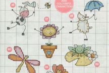 küçük desenler/mini cross stitch patterns / her konuda minik kanaviçe şemaları/simple cross stitch patterns for all purposes