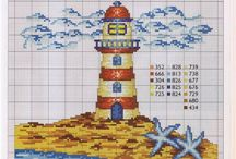 deniz/sea / deniz ile ilgili desenler/ cross stitch patterns about ses