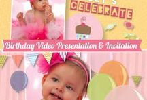 Birthday Video Invitation & Presentation / In this board you can find birthday video invitations, original birthday montage presentation to showcase your child photos and videos.