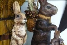 Chalkware and Paper Mache / German style Bunnies  / by Eileen Cole