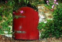 A stone, a leaf, a door.... / Doors: entries into adventure!  All you have to do is walk through. One choose to be locked in or locked out. / by Nan