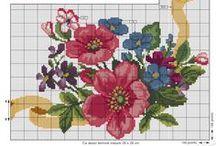 Σχέδια flowers (λουλούδια ) / Σχέδια για σταυροβελονιά