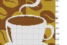 Coffi ( καφές ) / Σχέδια για σταυροβελονιά