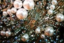 pearls, sequins, gold...