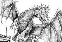 Coloring for Adults ~ Fantasy / Fantasy coloring pages.