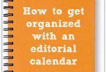Business: Time Management / Editorial Calendar, Organization, Time Management